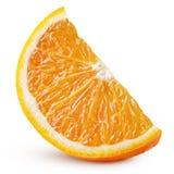 Wedge of orange citrus fruit isolated on white stock image