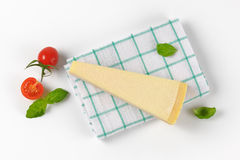 Wedge of parmesan cheese Royalty Free Stock Image