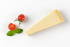Wedge of parmesan cheese Stock Photos