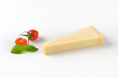 Wedge of parmesan cheese Royalty Free Stock Photography