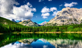 Wedge Pond. In Kananaskis Country, Alberta, Canada Stock Images