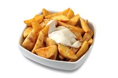 Wedge potatoes Stock Images