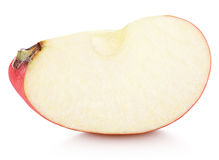 Wedge of red apple fruit without seed isolated on white Royalty Free Stock Photos
