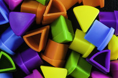 Wedge Shapes. Multiple colourful quiz wedge shapes Stock Photo