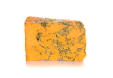 Wedge of Shropshire Blue cheese Royalty Free Stock Images