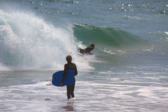 The Wedge Surfers Stock Images