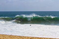 The Wedge Surfers Stock Photo