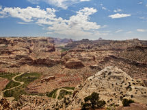 The Wedge At Utah's San Rafael Swell. The Wedge overlook in Utah's San Rafael Swell looking into the river canyon Royalty Free Stock Photography