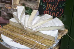 Wedges of Brie Cheese on sale at Borough Market, North Tyneside, England, UK Stock Images