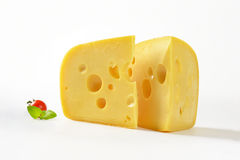 Wedges of cheese Stock Image