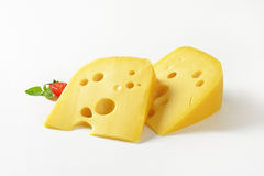 Wedges of cheese Stock Photo