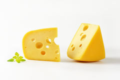 Wedges of cheese Royalty Free Stock Image