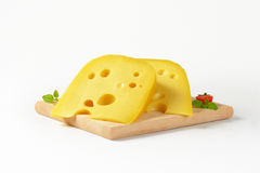Wedges of cheese Stock Photography