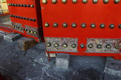 Wedges for doors in Forbidden City Stock Photography