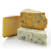 Wedges of Gourmet Cheese Stock Photos
