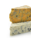 Wedges of Gourmet Cheese Stock Image