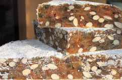 Wedges of Panforte Royalty Free Stock Photos