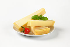 Wedges of parmesan cheese Royalty Free Stock Photos