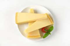 Wedges of parmesan cheese Royalty Free Stock Photography