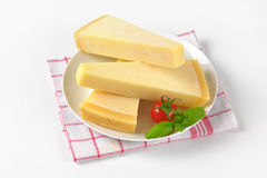 Wedges of parmesan cheese Stock Image