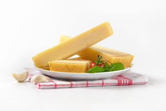 Wedges of parmesan cheese Stock Photos