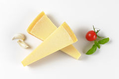 Wedges of parmesan cheese Stock Images