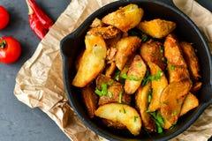 Wedges  potatoes Stock Photo