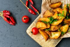 Wedges  potatoes Stock Photography