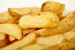 Wedges potatoes Royalty Free Stock Image