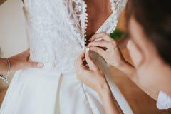 Wediing klänning royaltyfria bilder