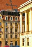 Wedijver op sommige monumenten (Opera) in Wroclaw, Polen royalty-vrije stock afbeeldingen