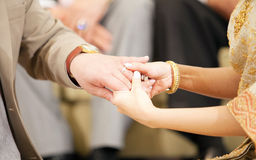 Weding hand with ring Royalty Free Stock Photo