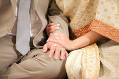 Weding hand with ring Stock Photos