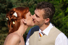 Weding kiss Royalty Free Stock Photos