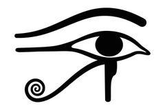 Wedjat 眼睛horus 古老埃及标志 免版税库存照片