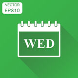 Wednesday calendar page icon. Business concept wednesday calenda Royalty Free Stock Images