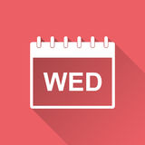 Wednesday calendar page pictogram icon. Stock Image