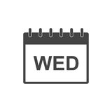 Wednesday calendar page pictogram icon. Royalty Free Stock Image