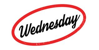 Wednesday rubber stamp Stock Images