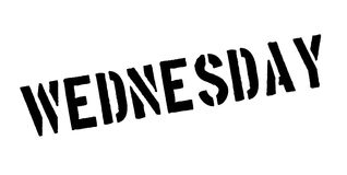 Wednesday rubber stamp Royalty Free Stock Photography