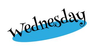 Wednesday rubber stamp Stock Image
