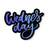 Wednesday. It s like a middle finger of the week. Brush Lettering Vector Illustration Design. Social media typography funny. Content. Fun for calendar template royalty free illustration