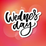 Wednesday. It s like a middle finger of the week. Brush Lettering Vector Illustration Design. Social media typography funny. Content. Fun for calendar template vector illustration