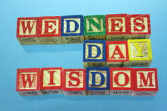 Wednesday wisdom Stock Images