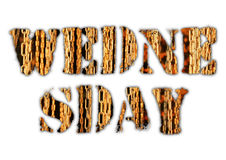 Wednesday word from grunge letters Stock Photos