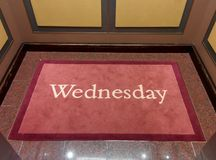 Wednesday written on a carpet Royalty Free Stock Image