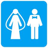 Weds Persons Rounded Square Raster Icon royalty free illustration