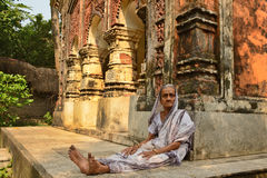 Weduwe in India Royalty-vrije Stock Fotografie