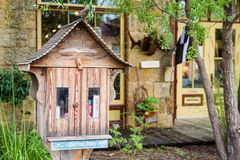 Wee Little Library. MINERAL POINT, WISCONSIN, USA - SEPTEMBER 22, 2016: This third oldest town in the state, once a mining area, is now known for art galleries royalty free stock photo