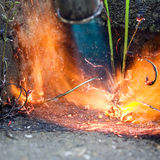 Weed Burning Stock Image